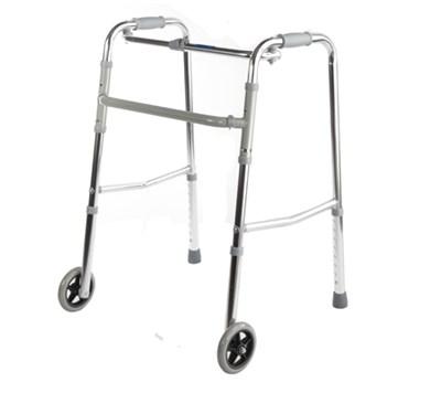 Ходунки шагающие с колёсами  R Wheel цвет хром - фото 4627