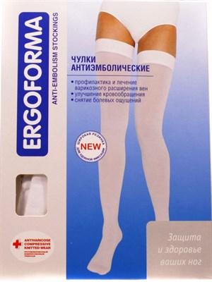 Чулки антиэмболические (операционные) белые ERGOFORMA - фото 5032