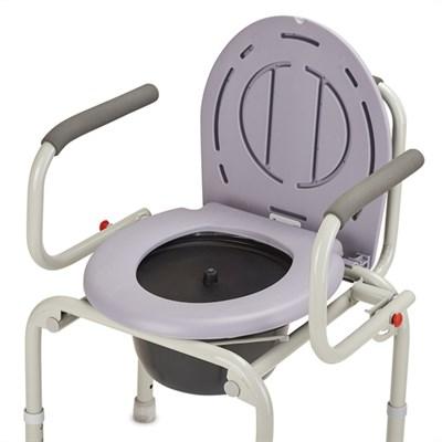 Кресло-туалет с откидывающимися поручнями - фото 5738