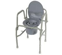 Кресло-туалет повышенной прочности с откидывающимися поручнями